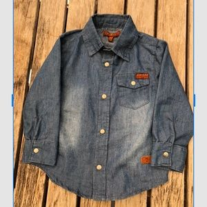 BOGO Boy's Long Sleeves Blue Denim Shirt
